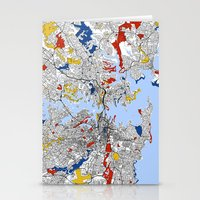sydney Stationery Cards featuring Sydney by Mondrian Maps