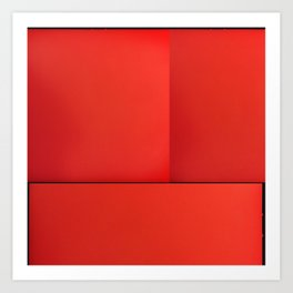 colour field red Art Print