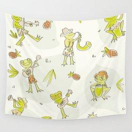 Frog Jamboree  Wall Tapestry