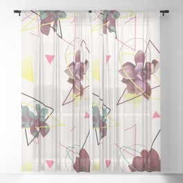 Spatial Succulents #redbubble #decor #buyart Sheer Curtain