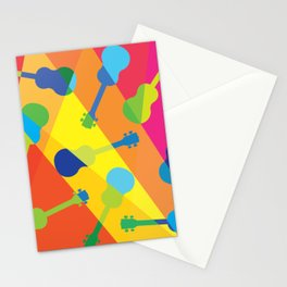 ukulele pattern Stationery Cards