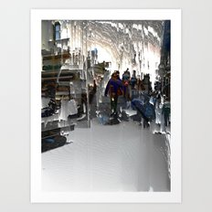 Understanding interpreted as instants mesh, v. 1. Art Print