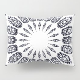 BLACK AND WHITE DOODLE MANDALA Pillow Sham