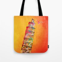 italy Tote Bags featuring Italy  by mark ashkenazi