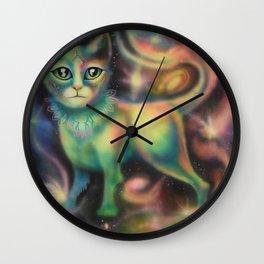 Cosmic Kitten Wall Clock