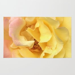 Summer Rose in Pink and Yellow Rug