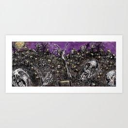 Zombies....Braaaiiinnnnsss!!! Art Print
