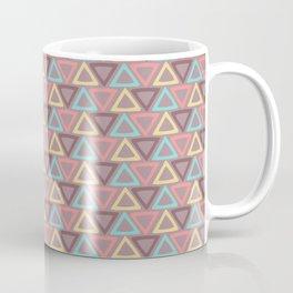 Hand painted coral teal yellow geometric tribal pattern Coffee Mug