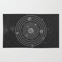 solar system Area & Throw Rugs featuring SOLAR SYSTEM by Mírë