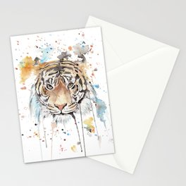 "Watercolor Painting of Picture ""Portrait of a Tiger"" Stationery Cards"