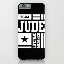 Jude Personalized Name Birthday Gift iPhone Case