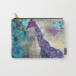 Majestic Series: Giraffe having a berry Carry-All Pouch