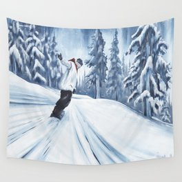 Dropping The Dream Forest Wall Tapestry