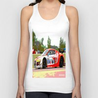 audi Tank Tops featuring Flying Lizard Audi R8 | Road America by Phil Schroeder Design