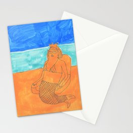 sand queen Stationery Cards
