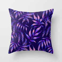 Brooklyn Forest - Purple Throw Pillow