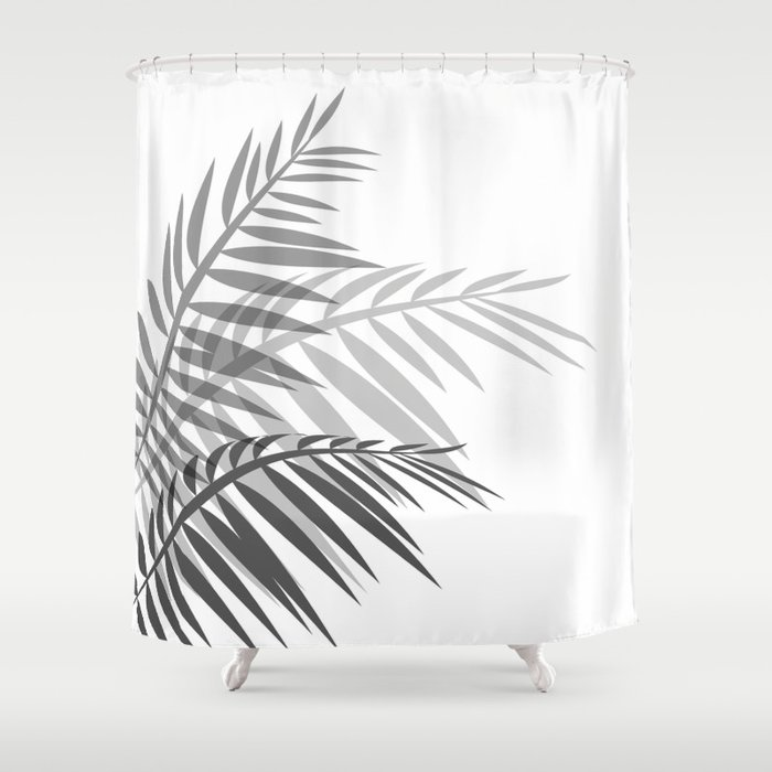 Leaves Of Palm Tree Leaves Shower Curtain By Decoli Society6