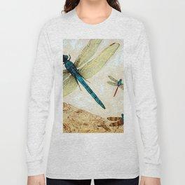 Zen Flight - Dragonfly Art By Sharon Cummings Long Sleeve T-shirt