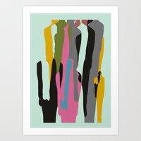 it crowd Art Prints featuring Crowd by FLATOWL