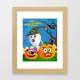 Halloween Ghost - Trick or Treat Framed Art Print