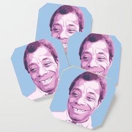 James Baldwin Portrait Blue Purple Coaster