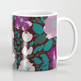 Dark Moody Garden Floral Pattern Coffee Mug