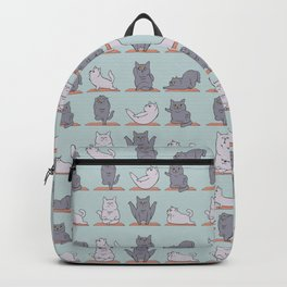 British Shorthair Cat  Yoga Backpack