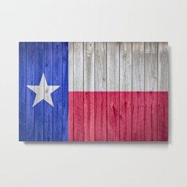Texas State Flag Barn Wall Gifts Metal Print