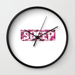 sheep camo Wall Clock