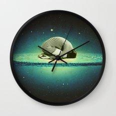 Balasana space Wall Clock