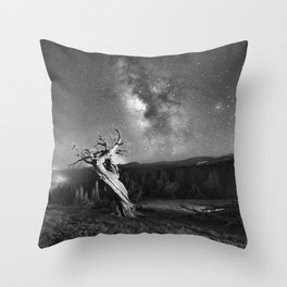 Under Starry Sky At Night Throw Pillow