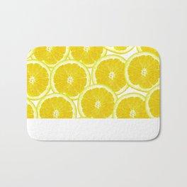 Summer Citrus Lemon Slices Bath Mat