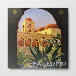 Vintage poster - Palermo Metal Print