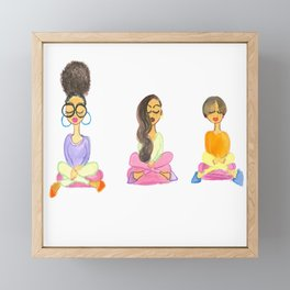 Zen Girls No. 3 Framed Mini Art Print