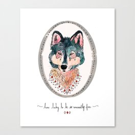 how lucky to be so unusually free Canvas Print
