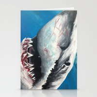 shark Stationery Cards featuring Shark by Kristin Frenzel