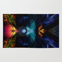 stargate Area & Throw Rugs featuring Stargate Fractal Abstract by BohemianBound