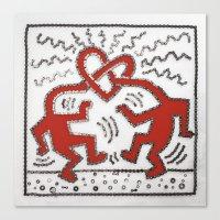 keith haring Canvas Prints featuring 077: Keith Haring - 100 Hoopties by 100 Hoopties