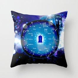 Tardis Horoscopes Throw Pillow