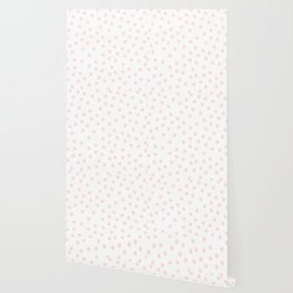Simply Dots in Pink Flamingo Wallpaper