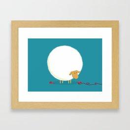 Fluffy Sheep Framed Art Print