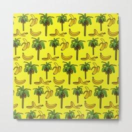 Banana print, Banana decor, banana tree, banana tree print, home decor Metal Print