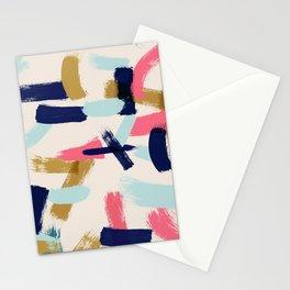 Bohemian tribal brush stroke Stationery Cards