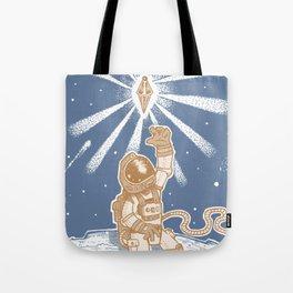 Spaceman Blue Tote Bag