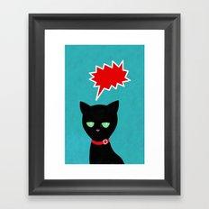 cat -Black cat Framed Art Print