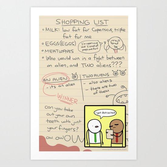 Antics #279 - the simplest task Art Print