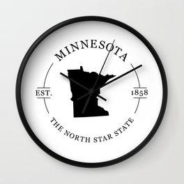 Minnesota - The North Star State Wall Clock