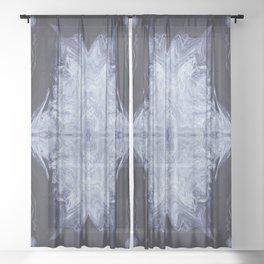 Firmament in Blue Sheer Curtain