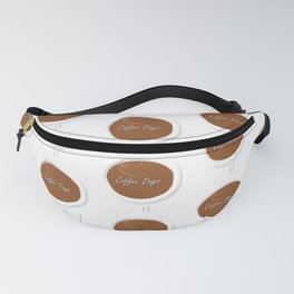Coffee Days Pattern Fanny Pack