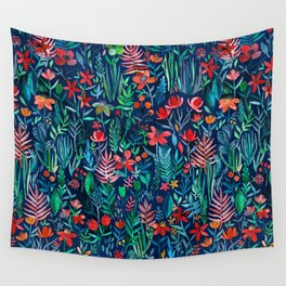 Tropical Ink - a watercolor garden Wall Tapestry